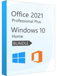 Microsoft Windows 10 Home + Office 2021 Pro Plus- Package