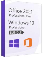 Microsoft Windows 10 Pro + Office 2021 Pro - Package