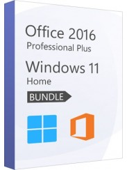 Microsoft Windows 11 Home + Office 2016 Pro - Package