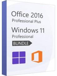 Microsoft Windows 11 Pro + Office 2016 Pro Plus- Package